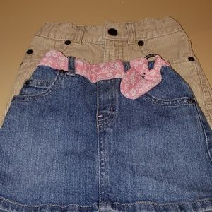 $6/in bundle🌻, 2 Very cute 2T skirts
